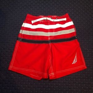 Náutica Red Boys Swim Shorts Sz M(5/6)